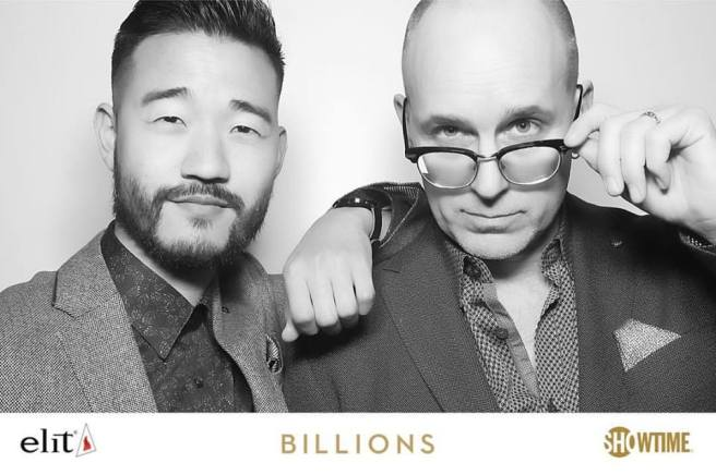 Daniel K. Isaac and Kelly AuCoin at the Showtime and elit Vodka hosted BILLIONS Season 2 premiere and party, held at Cipriani's in New York City on February 13, 2017. (Facebook)