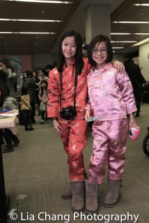 Ava and Lily Quintanilla, 7-year old twins, at the Lunar New Year Festival: Year of the Rooster at The Met on February 5, 2017. Photo by Lia Chang