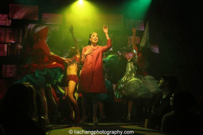Jaygee Macapugay as Imelda in HERE LIES LOVE. Photo by Lia Chang