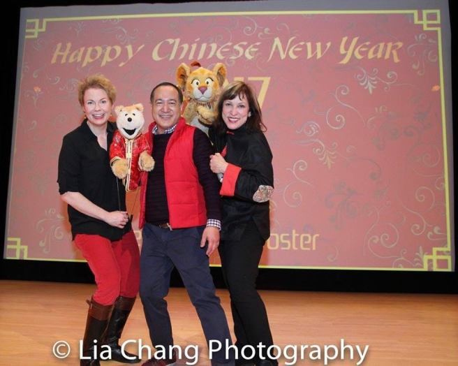 Jennifer Barnhart, Alan Muraoka and Pam Arciero at The Met's Lunar New Year Festival: Year of the Rooster. Photo by Lia Chang