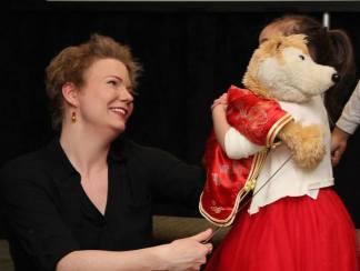 Sesame Street puppeteer Jennifer Barnhart. Photo by Lia Chang