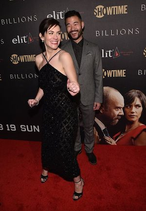Maggie Siff and Daniel K. Isaac at the Showtime and elit Vodka hosted BILLIONS Season 2 premiere and party, held at Cipriani's in New York City on February 13, 2017. - Photo: Brian Bedder/SHOWTIME