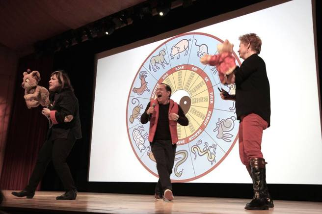 Pam Arciero, Alan Muraoka and Jennifer Barnhart at The Met's Lunar New Year: Year of the Rooster Festival. Photo by Lia Chang