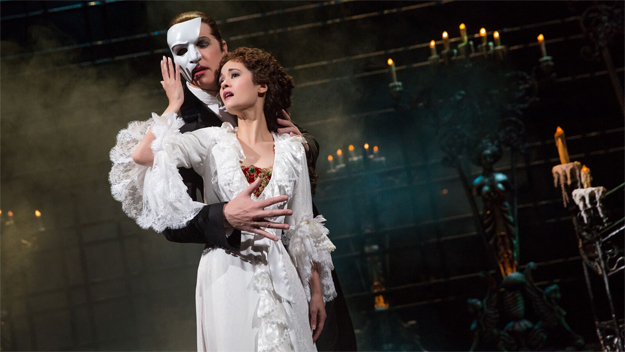 "James Barbour and Ali Ewoldt in ""The Phantom Of The Opera."" (photo credit: Matthew Murphy)"