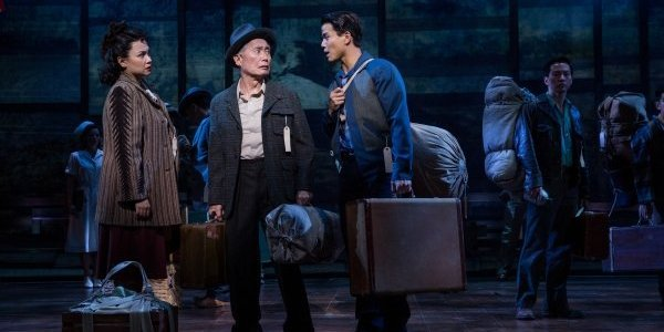 Lea Salonga, George Takei, Telly Leung, Michael K. Lee and company. Photo by Matthew Murphy