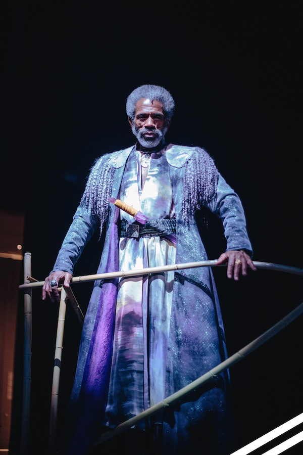 André De Shields as Prospero in the musical adaptation of THE TEMPEST, the Inaugural Production of Public Works Dallas at DTC through March 5, 2017. Photo Credit: @AceShotThat