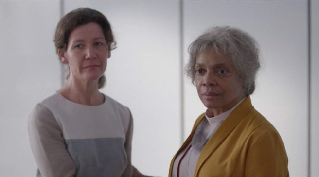 "Denise Burse as Elder Kelly in the ""San Junipero"" episode of ""Black Mirror""."