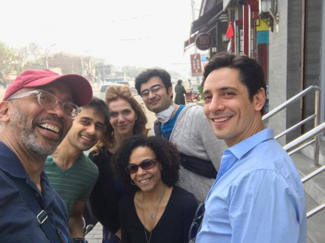 Director Timothy Douglas with cast members Samip Raval, Rachel Leslie, Ivy Vahanian, Fajer Kaisi and Ariel Shafir. Photo courtesy of Timothy Douglas