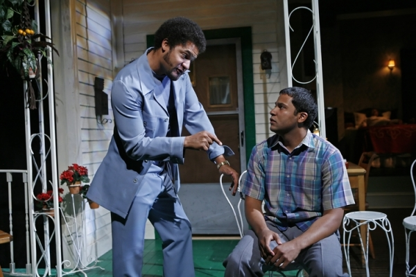 """Brandon and Jason Dirden in Signature Theatre's 2010 revival of Leslie Lee's """"The First Breeze of Summer."""" Photo by Richard Termine."""
