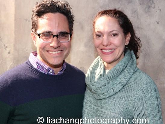 Rajiv Joseph and Giovanna Sardelli. Photo by Lia Chang