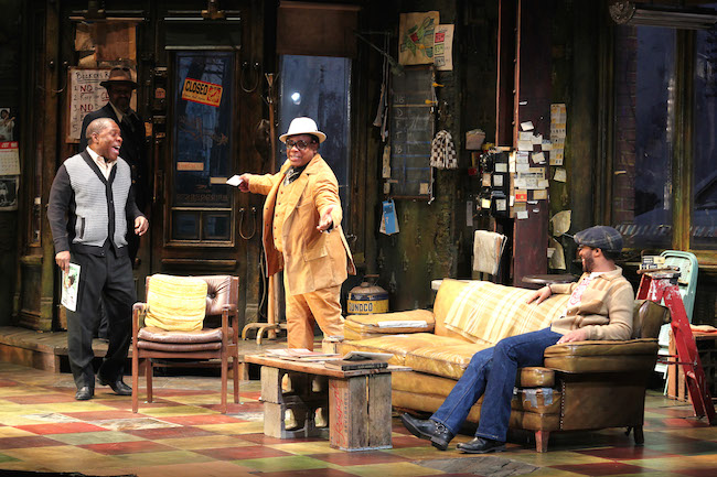 Michael Potts, Anthony Chisholm, Harvy Blanks and André Holland in JITNEY. Photo by Lia Chang