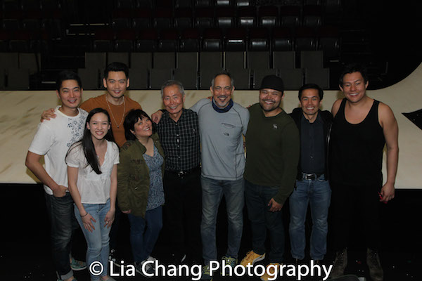 Austin Ku, Kimberly Immanuel, Karl Josef Co, Ann Harada, George Takei, Thom Sesma, Orville Mendoza, Steven Eng and Kelvin Moon Loh. Photo by Lia Chang