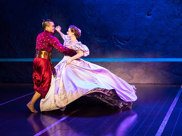 Jose Llana and Laura Michelle Kelly in Rodgers & Hammerstein's The King and I. Photo by Matthew Murphy Jose Llana as The King in Rodgers & Hammerstein's The King and I. Photo by Matthew Murphy