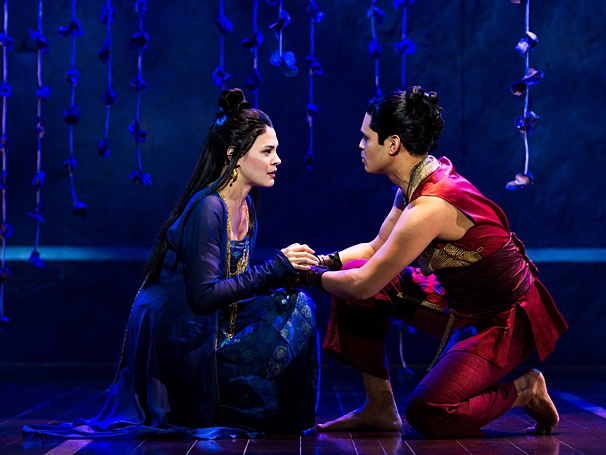 Manna Nichols as Tuptim, Kavin Panmeechao as Lun Tha in THE KING AND I. Photo by Matthew Murphy
