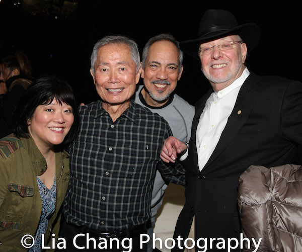 Ann Harada, George Takei, Thom Sesma and Don Buchwald. Photo by Lia Chang