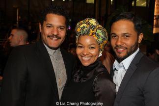 Brandon J. Dirden, Crystal Dickinson and Jason Dirden. Photo by Lia Chang