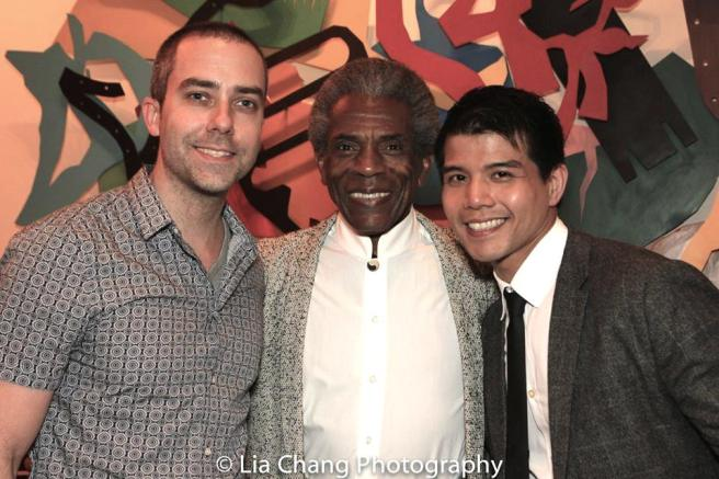 James Babock, André De Shields and Telly Leung at the opening of STC's THE TAMING OF THE SHREW in Washington D.C. on May 24, 2016. Photo by Lia Chang