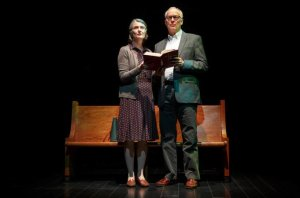 Annette O'Toole and Reed Birney in MAN FROM NEBRASKA (Photo: Joan Marcus)