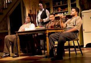 "Chuck Cooper, James A. Williams, Jason Dirden, and Brandon J. Dirden in ""The Piano Lesson"" at Signature Theatre in 2012. Photo by Joan Marcus"