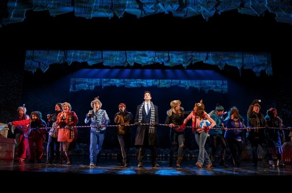 Andy Karl and cast. Photo Credit: Joan Marcus