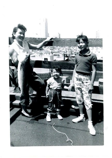 My mother, far left with her mother, Nancy Chang and her sister, Pauline Chang in San Francisco (circa 1956).