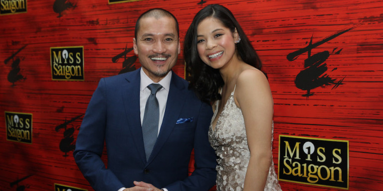 Jon Jon Briones and Eva Noblezada at the opening night party of MISS SAIGON at Tavern on the Green in New York on March 23, 2017. Photo by Lia Chang