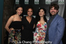 Flor De Liz Perez, Director Weyni Mengesha, Claudia Acosta and playwright Martin Zimmerman. Photo by Lia Chang