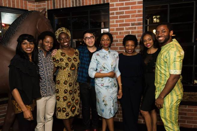 Jenny Jules, Hubert Point-Du Jour, Adepero Oduye, Director Ed Sylvanus Iskandar, Chinasa Ogbuagu, Playwright Mfoniso Udofia, Lakisha May and Chinaza Uche. Photo courtesy of NYTW/Facebook