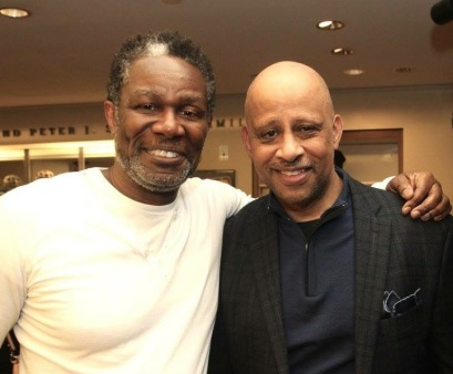 JITNEY'S John Douglas Thompson and Ruben Santiago-Hudson. Photo by Lia Chang