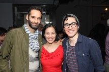 Jonathan Raviv, Lia Chang, Troy Iwata. Photo by Garth Kravits