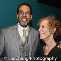 Peter Jay Fernandez and playwright Susan Yankowitz. Photo by Lia Chang