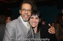 Peter Jay Fernandez and Leigh Silverman. Photo by Lia Chang