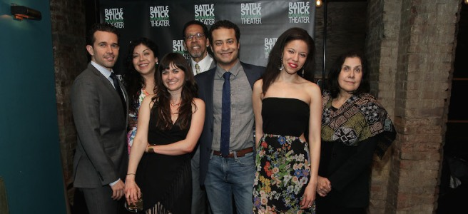 SEVEN SPOTS ON THE SUN castmembers Rey Lucas, Claudia Acosta, Flora Diaz, Peter Jay Fernandez, Cesar Rosado, Flor De Liz Perez and Socorro Santiago (not pictured- Sean Carvajal). Photo by Lia Chang