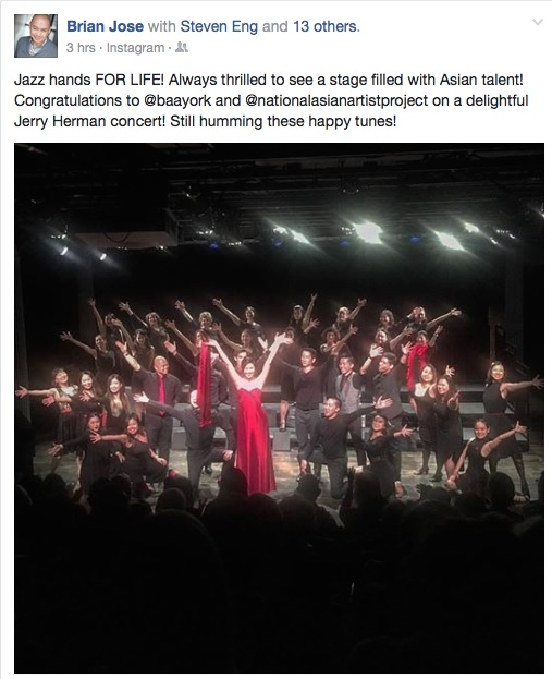 The NAAP Broadway Community Chorus presented an evening of Jerry Herman with special guests Cindy Cheung and John D. Haggerty at the Gibney Dance Agnes Varis Performing Arts Center on May 23, 2017. Photo courtesy of Brian Jose/Facebook