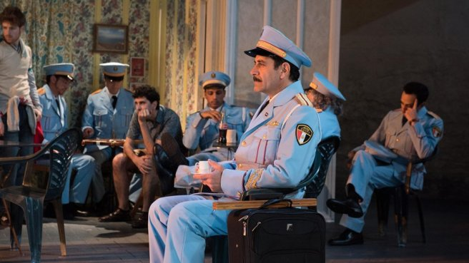 Tony Shalhoub and cast in 'The Band's Visit'. Photo: Ahron R. Foster