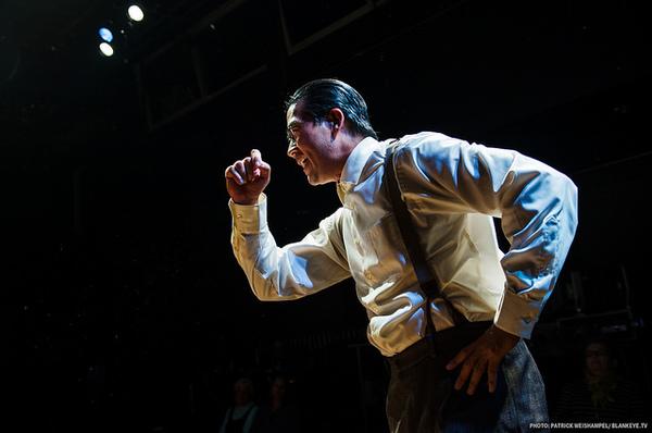 "Ryun Yu as Gordon Hirabayashi in ""Hold These Truths"". Photo credit: Patrick Weishampel/Courtesy Portland Center Stage"