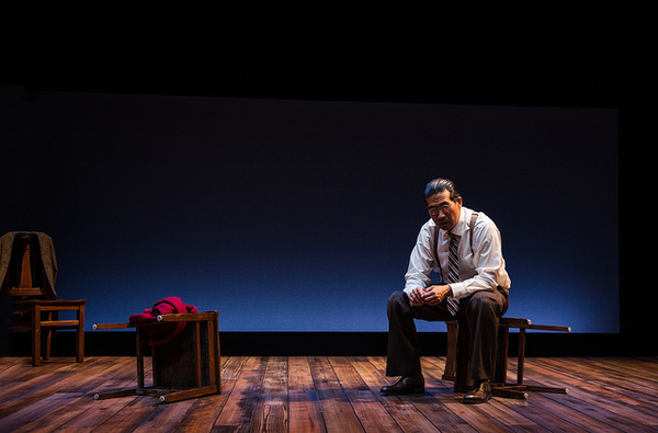"Ryun Yu as Gordon Hirabayashi in ""Hold These Truths"". Photo credit: Patrick Weishampel/Courtesy Portland Center Stage"