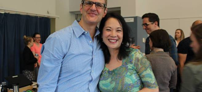Director Joseph Haj and Christine Toy Johnson (Old Lady). Photo courtesy of Facebook