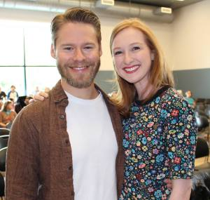 Randy Harrison and Erin Mackey. Photo courtesy of Facebook