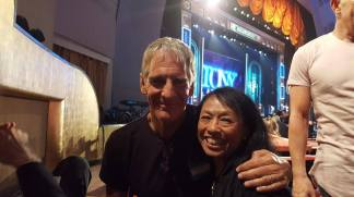 Scott Bakula and Baayork Lee at the 71st Annual Tony Awards ceremony rehearsal on June 11, 2017. Photo: NAAP/Facebook
