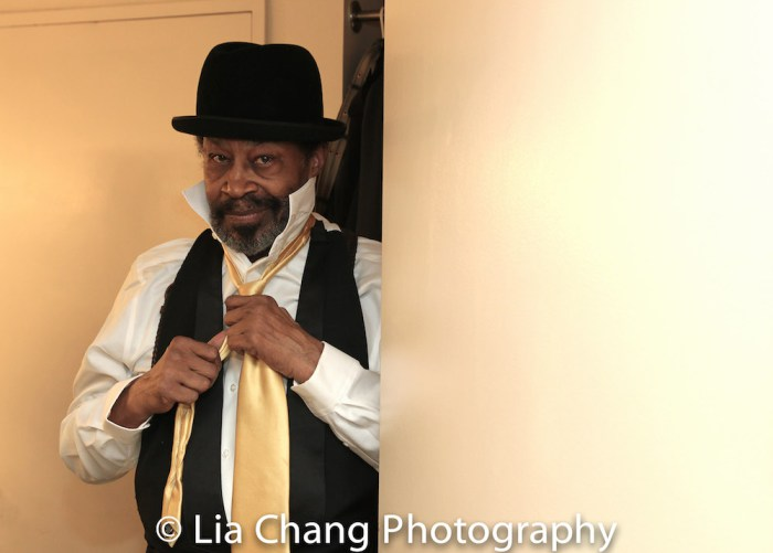 Anthony Chisholm backstage at Manhattan Theatre Club's JITNEY at the Samuel J. Friedman Theatre in New York on January 19, 2017. Photo by Lia Chang
