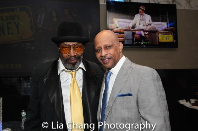 Anthony Chisholm with JITNEY director Ruben Santiago-Hudson at the opening night party of JITNEY at the Copacabana in New York on January 19, 2017. Photo by Lia Chang