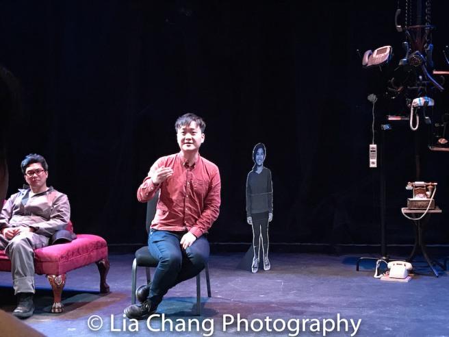 Edgar Eguia and director Chongren Fan. Photo by Lia Chang