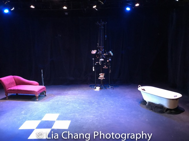 The set of Frances Ya-Chu Cowhig's 410[GONE] at Theater for the New City in New York. Photo by Lia Chang