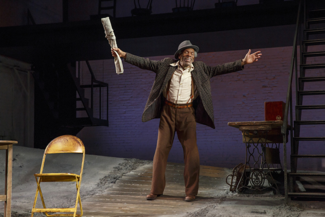 "André De Shields in August Wilson's ""Seven Guitars,"" directed by Timothy Douglas. Photo by Joan Marcus 2016."