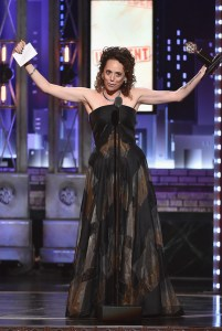 NEW YORK, NY - JUNE 11: Rebecca Taichman accepts the award for Best Direction of a Play for Indecent onstage during the 2017 Tony Awards at Radio City Music Hall on June 11, 2017 in New York City. (Photo by Theo Wargo/Getty Images for Tony Awards Productions)