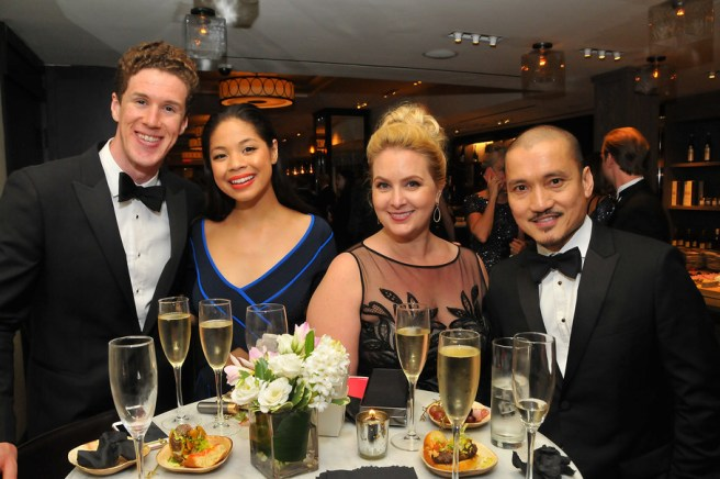 Leo Roberts, Tony nominee Eva Noblezada, Megan Briones, and Jon Jon Briones at the 2017 Tony Awards Gala on June 11, 2017. Credit: Anita and Steve Shevett