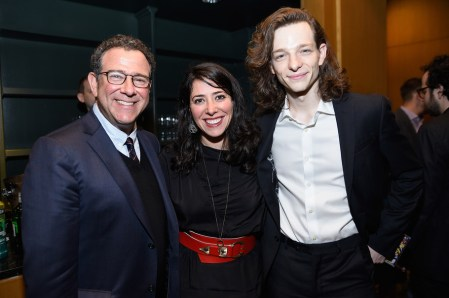 NEW YORK, NY - JUNE 05: Michael Greif, Rachel Chavkin and Mike Faist attend the Tony Honors Cocktail Party Presenting The 2017 Tony Honors For Excellence In The Theatre And Honoring The 2017 Special Award Recipients - Arrivals at Sofitel Hotel on June 5, 2017 in New York City. (Photo by Jenny Anderson/Getty Images for Tony Awards Productions)