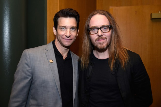 NEW YORK, NY - JUNE 05: Andy Karl (L) and Tim Minchin attend the Tony Honors Cocktail Party Presenting The 2017 Tony Honors For Excellence In The Theatre And Honoring The 2017 Special Award Recipients - Arrivals at Sofitel Hotel on June 5, 2017 in New York City. (Photo by Jenny Anderson/Getty Images for Tony Awards Productions)