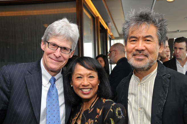 President of the Rodgers & Hammerstein Organization Ted Chapin, Isabelle Stevenson Tony Award Honoree Baayork Lee, and Chair of the American Theatre Wing David Henry Hwang at the Tony Nominee Luncheon, held at the Rainbow Room in NYC on May 23, 2017 Credit: Shevett Studios